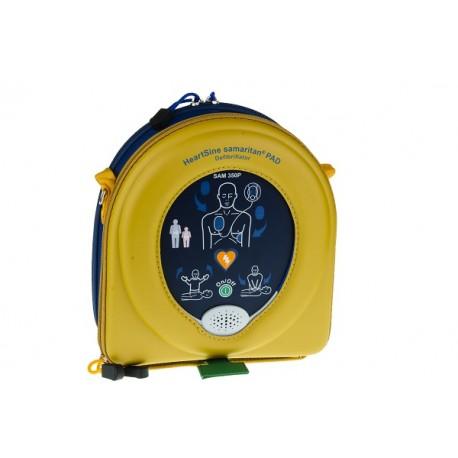 Defibrillatore semiautomatico HEARTSINE SAMARITAN PAD 350P per società sportive, centri commerciali, scuole, asili, condomini.