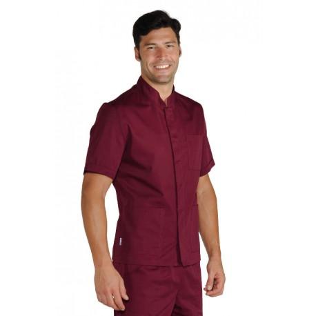 Casacca da lavoro uomo corfù manica corta e bottoni a pressione per medici, infermieri, parrucchieri, banconisti - Isacco