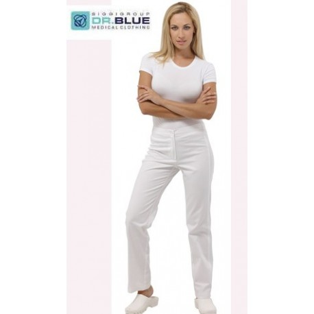 Pantalone bianco donna Sun per infermieri, igienisti dentali, fisioterapiste - Siggi