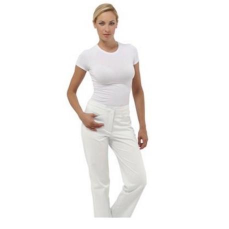 Pantalone da lavoro donna Sky bianco in 100% cotone per infermiere - fisioterapiste - dentisti - Siggi Dr.Blue