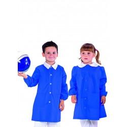 Grembiule asilo unisex Pollicino in vari colori con bottoni e manica lunga - Isacco