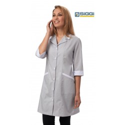 Camice da lavoro donna colorato Mia con bottoni e manica lunga per cameriere, donne delle pulizie - Siggi Horeca