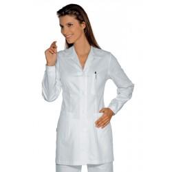 Casacca da lavoro donna Marbella maniche lunghe per farmaciste, biologi e massaggiatrici- Isacco