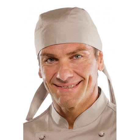 Bandana da lavoro unisex verde, fango, tortora per cuochi, pizzaioli - Isacco