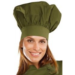Cappello da cuoco unisex verde,fango, tortora - Isacco