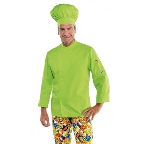 Giacca cuoco uomo bilbao in vari colori manica lunga e bottoni a pressione - Isacco