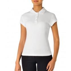 Polo da lavoro donna manica corta bianca o nera in 100% cotone - Giblor's