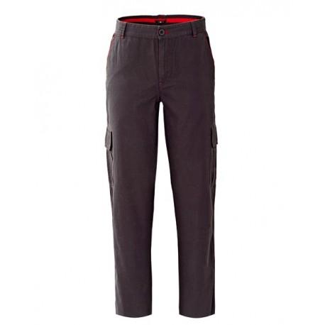 Pantalone da lavoro uomo new santiago con tasconi laterali in 100% cotone blu o grigio per operai- elettricisti