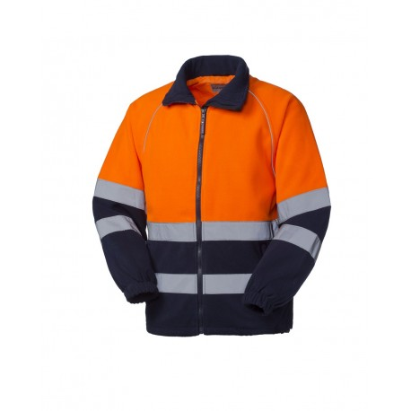 Pile Norberg uomo da lavoro alta visibilità arancio/blu per soccorritori