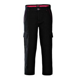 Pantalone da lavoro invernale unisex Nebraska con tasconi in 100% Cotone blu - grigio - nero per operai, impiantisti