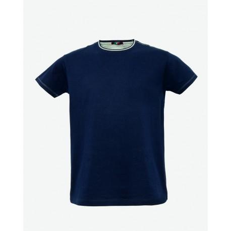 T-shirt da lavoro uomo manica corta Truck in cotone blu - grigio - azzurro - Lancelot