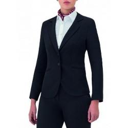 Giacca da lavoro donna Dana nera sfiancata per receptionist - Giblor's