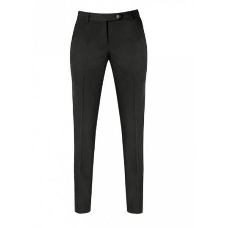 Pantalone da lavoro francese donna nero vita bassa slim fit per receptionist - cameriere - Giblor's