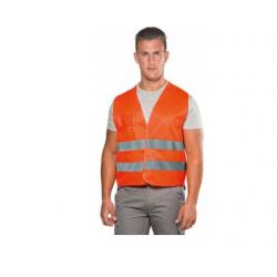 Gilet  alta visibilità poliestere giallo e arancio  EN 471- LOGICA