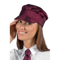 Cappello da lavoro unisex Sam linea lurex oro-argento-bordeaux - Isacco