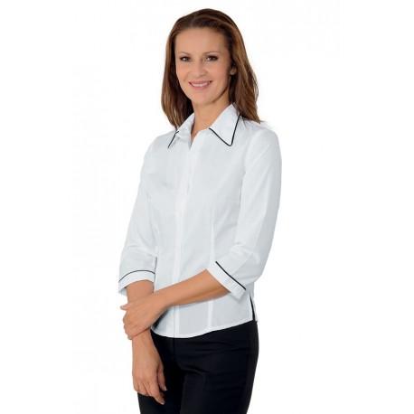 Camicia da lavoro donna Kyoto colletto classico bicolore- Isacco