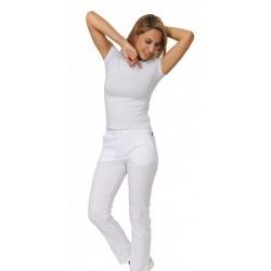 Pantalone unisex  da lavoro donna bianco Tamara per infermiere, dentisti, massaggiatrici, fisioterapiste - Siggi Dr.Blue