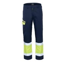 Pantalone da lavoro unisex alta visibilita' blu/giallo Pentavalente III categoria - Lancelot