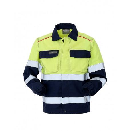 Giubbetto da lavoro unisex alta visibilità blu/giallo Pentavalente III categoria - Lancelot