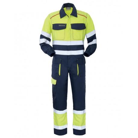 Tuta da lavoro alta visibilità giallo/blu Pentavalente III Categoria - Lancelot