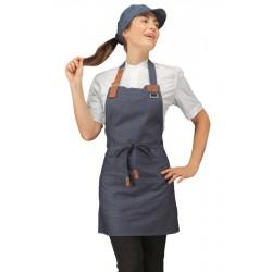 Grembiule da lavoro donna corto Kansas in jeans per bar - gelaterie - Isacco