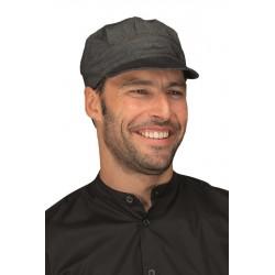 Cappello da lavoro unisex Sam in jeans nero per bar - gelaterie - Isacco