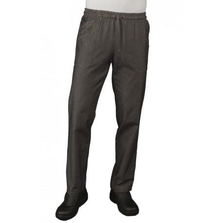 più recente ce68a d7a6d Pantaloni da lavoro in jeans con elastico in vita per cuochi - pasticceri -  pizzaioli - chef - Isacco