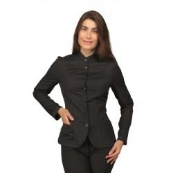 Blusa/Giacca da lavoro donna Bali bianca o nera elasticizzata per sala-bar - Isacco