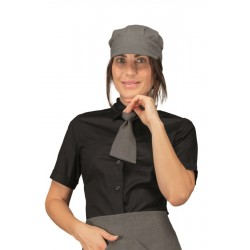 Cravattino da lavoro unisex color smoke per bar - gelaterie - Isacco