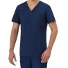 Casacca da lavoro uomo Giuliano con scollo a V manica corta per medici, infermieri. guardia medica- GIBLOR'S