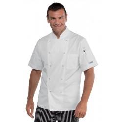 Giacca cuoco uomo Berlino manica corta bottoni a pressione SUPERDRY MICROFIBRA - Isacco