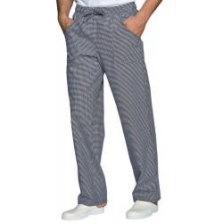 Pantalone da lavoro unisex con elastico in vita sale e pepe taglie forti 3XL/4XL/5XL per cuochi- Isacco