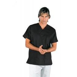 Casacca da lavoro unisex scollo a V maniche corte 195g/m2 ideale per infermieri- Isacco