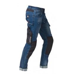 Jeans da lavoro uomo slim fit Speed elasticizzato con effetto spruzzo vernice per operai, falegnami - Siggi