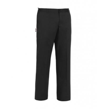 Pantalone da lavoro Evo nero unisex sfoderato con passanti e zip cucina/sala - Egochef