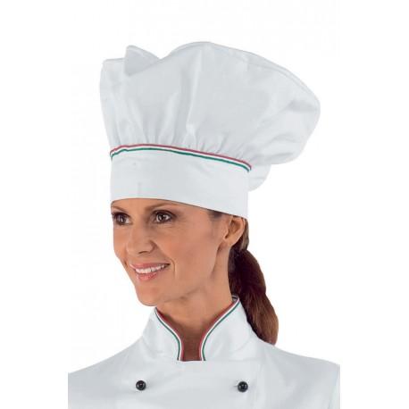 Cappello cuoco tricolore- Isacco