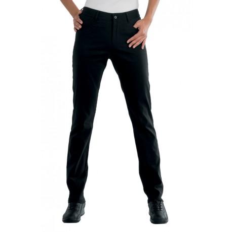 Pantalone da lavoro femminile Margarita super stretch con bottone e cerniera - Isacco