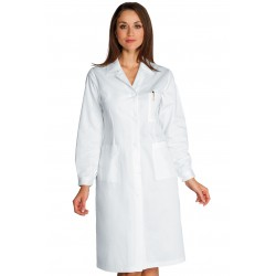 Camice donna bianco con bottoni classici e polsini con bottoni- Isacco