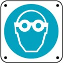 Cartello é obbligatorio proteggere gli occhi