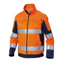 Giubbino da lavoro Advance alta visibilità bicolore arancio blu - vestibilità slim - Siggi
