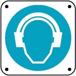 Cartello è obbligatorio proteggere l'udito