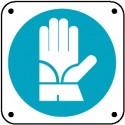 Cartello è obbligatorio usare i guanti