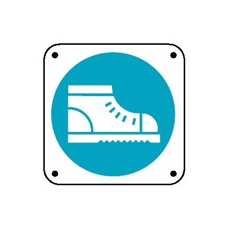 Cartello è obbligatorio usare le calzature di sicurezza