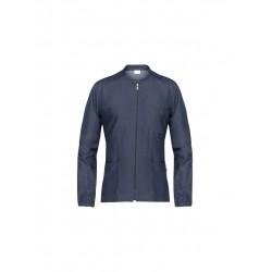 Casacca da lavoro uomo Remy iin jeans con manica lunga e cerniera per parrucchieri - Giblor's