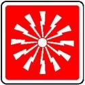 Cartello interruttore allarme antincendio