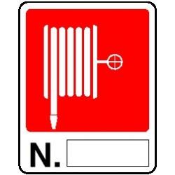 Cartello lancia antincendio N°