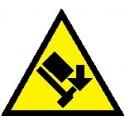 Cartello pericolo caduta materiali dall'alto