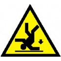 Cartello pericolo di caduta
