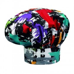 Cappello da cuoco/chef/pasticcere unisex con stampe colorate - Egochef