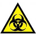 Cartello rischio biologico